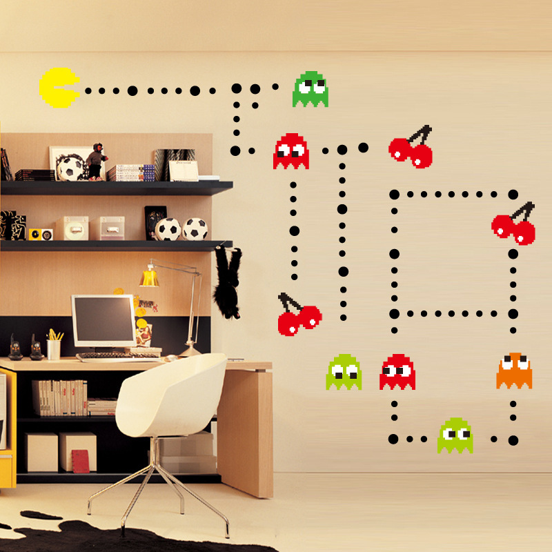 Popular stickers pacman buy cheap stickers pacman lots for 3d home decoration games