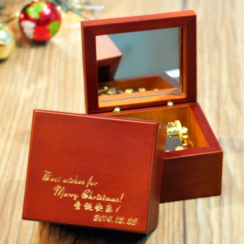 FREE SHIPPING The lettering DIY wooden music box music box a birthday present boyfriend or girlfriend bestie children's products(China (Mainland))