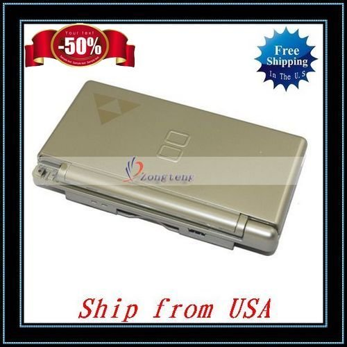Free Shipping + Wholesale 5pcs/lot Gold Repair Hinge Shell Case For NDSL Ship from USA-V8301GO