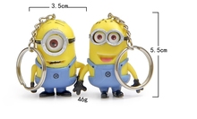 ME2 despicable me minions keychain pokemon small yellow people action figure LPS kids toys anime deadpool