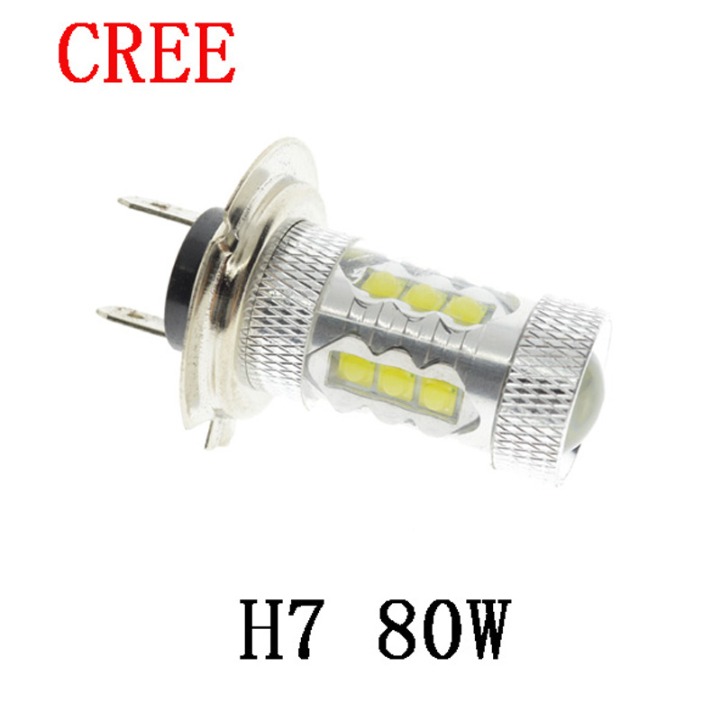 H1 H3 H4 H7 H11 1156 1157 80W High Power LED Car Auto Driving Fog Tail Headlight Light Lamp Bulb White 12V hot selling(China (Mainland))