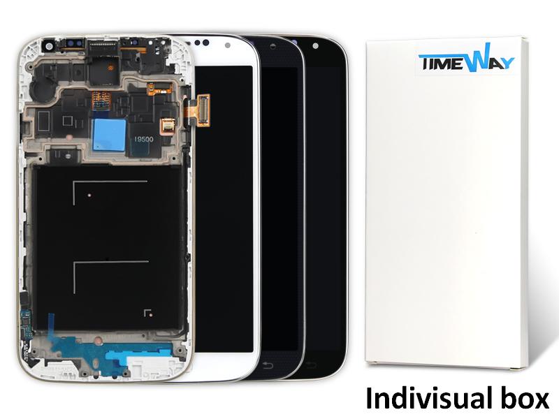 New 2pcs/lot China Alibaba Aaa Mobile Phone Lcd For Samsung S4 I9500 I9505 I337 I545 Screen Digitizer +frame(China (Mainland))