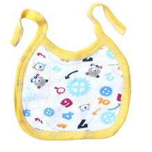 1 pc Manufacturers wholesale cotton double side use newborn boy girl 0-1 years old baby bibs three layer slobber pokect towel