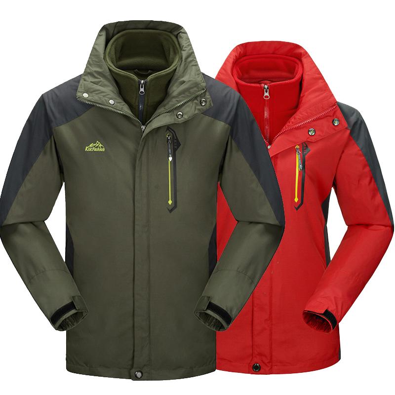 Men's thermal jacket Windbreaker coats men women Hooded Fleece Jackets For Deep Winter sportswear Chaqueta three-piece couples(China (Mainland))