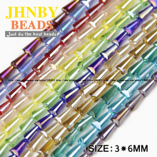 Buy JHNBY Tower shape Upscale Austrian crystal beads conical High loose beads glass 3*6mm 100pcs supply bracelet Jewelry DIY Store) for $2.10 in AliExpress store