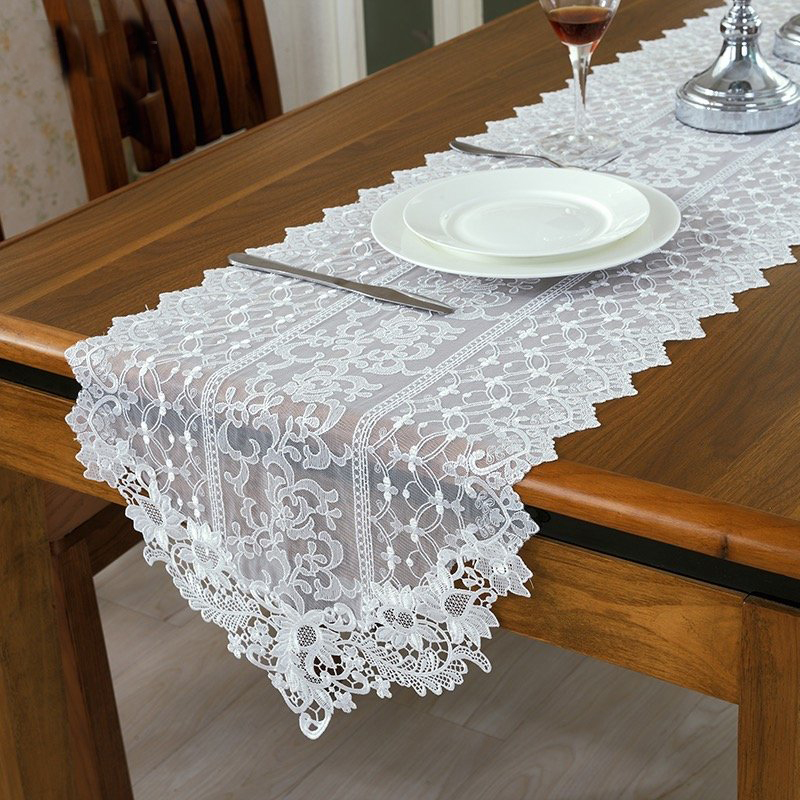 style white lace table runner wedding 2016 white table runners ...