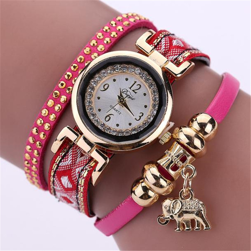 Fashion Women Watch Feather Weave Wrap Around Bracelet Crystal Synthetic Watch relogio feminino Dropshipping Free Shipping#40(China (Mainland))