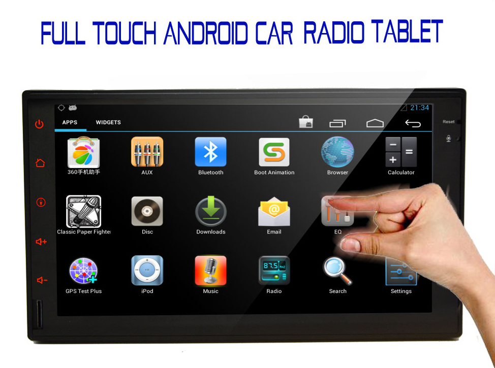 Double 2 din Pure Android 4 2 Car PC Stereo Bluetooth GPS Navigation 7 HD In