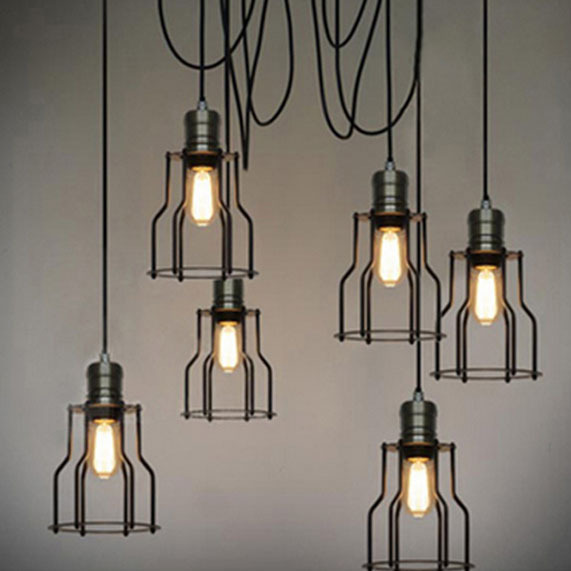 antique cord pendant light 1head e27 bulb black iron cord pendant lamp. Black Bedroom Furniture Sets. Home Design Ideas