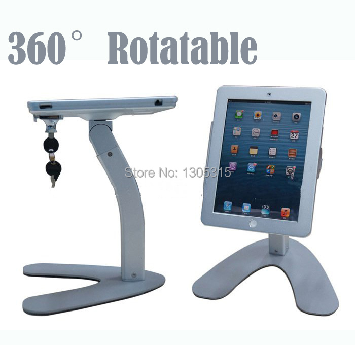 Metal protable security display stand for iPad 2/3/4 for tablet pc holder exhibiton with lock(China (Mainland))