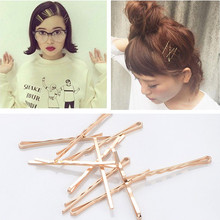 Buy 10 Pcs/Pack 5.5 cm length simple Gold Color Barrette Girls' hairpin Side Hair Clips Women Hair Accessories Drop for $1.12 in AliExpress store