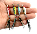 2 5cm 6 4 g Fishing Lures Minnow 3D Eyes artificial Crank Shallow Water Wobbler hard
