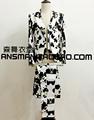 S 5XL 2015 Men s new slim fashion DG Mantianxing ink flower suit plus size singer