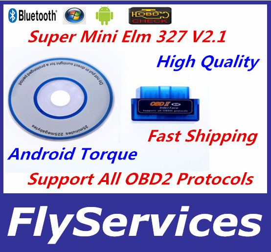 2015 Newest Version ELM327 Bluetooth V2.1 OBD2 Wireless ELM327 Interface Auto Code Reader Support Android Torque(China (Mainland))
