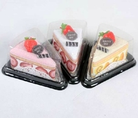Free Shipping triangle Blister mousse Cake cookie packing Cupcake favour packaging boxes pm 30pcs/lot