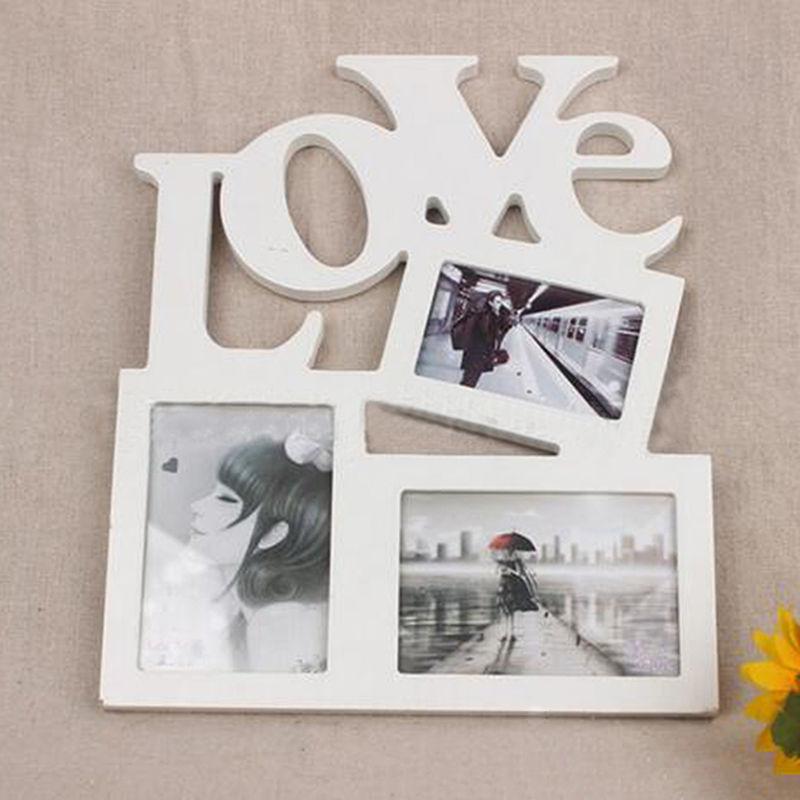 1set creative diy love photos frame wooden pictures framechina mainland