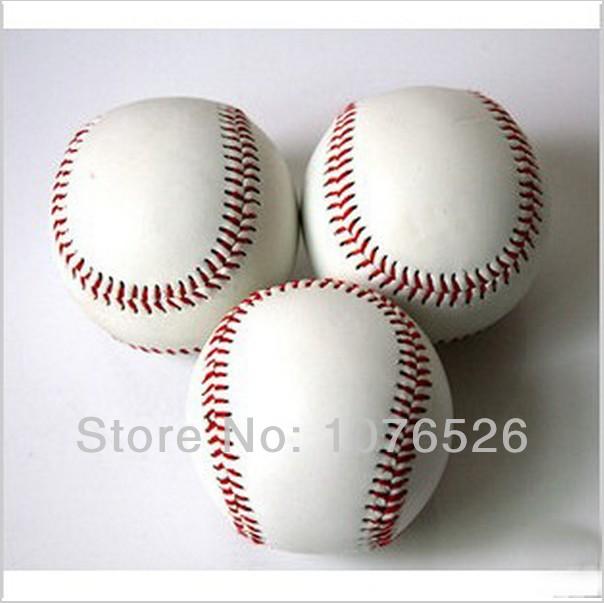 Standard White Trainning Exercise Soft Baseball Softball ball For Sport Team Game Practice Entertainment Free shipping(China (Mainland))
