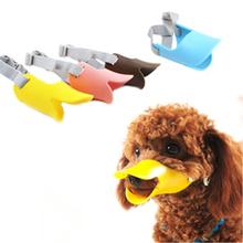Novelty silicone cute duck mouth design dog mask muzzle Bark bite stop anti-bite mask For Pet dog(China (Mainland))