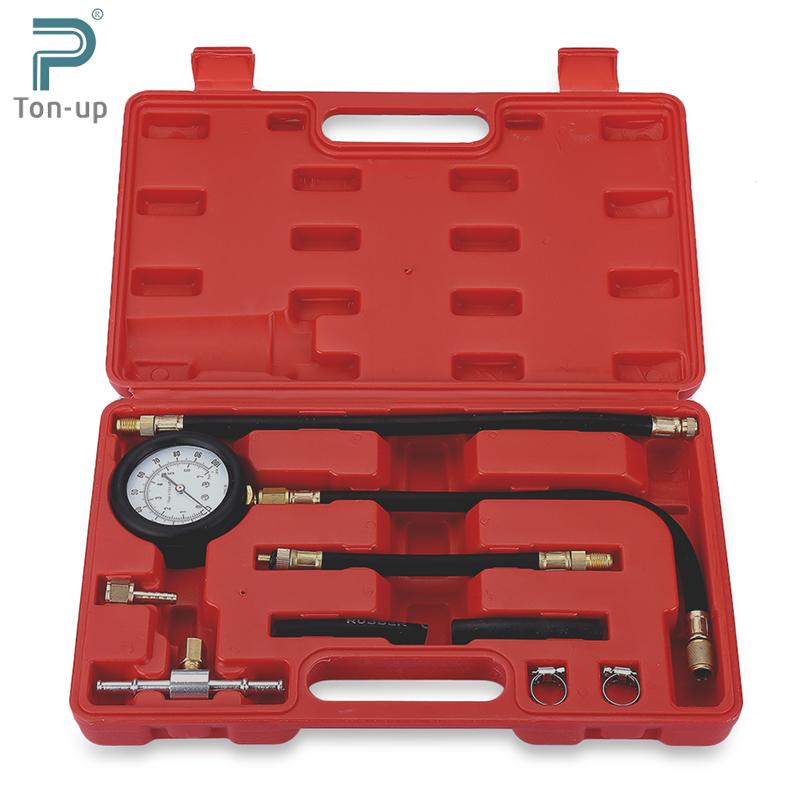 Auto Fuel Injection Pump Pressure Tester Kit Car Petrol Gas Engine Cylinder Compression Gauge Car Diagnostic Tool(China (Mainland))