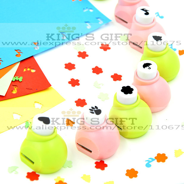 10pcs/Lot  Retail Packing  Mini Craft Punch For Scrapbook Handmade, DIY Card, DIY Punch Kids Toys Hobblies  Free Shipping