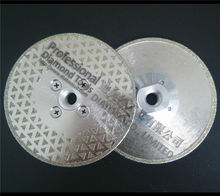 2pcs 5″/125mm electroplated diamond cutting and grinding discs for granite & marble