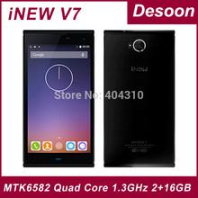 Original iNew V7 MTK6582 Quad Core 1.3GHz Android 4.4 SmartPhone 5.0inch HD Screen 2GB RAM 16GB ROM Camera 16.0MP NFC OTG/Maksim(China (Mainland))