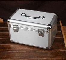 Aluminum alloy storage box jewelry box organization cosmetic medicine Sundries box tool case package air box(China (Mainland))