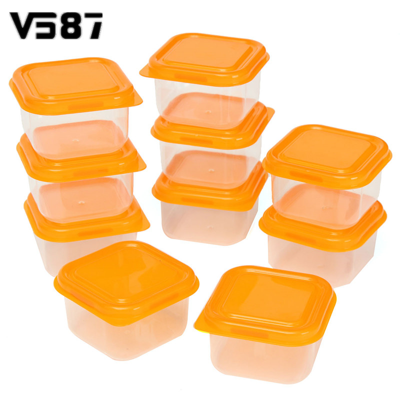 10Pcs Reusable Mini Plastic Food Storage Boxes Containers Snack Nut Fruit Organizer Box Set With Lids Kitchen Accessories(China (Mainland))