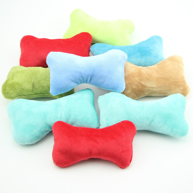 Plush pet toys sound small dog teddy vip teeth bite for Dog proof pillows
