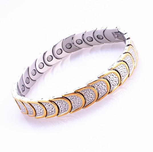 4in 1 магнитный браслеты электропитание терапия магниты 316L титан нержавеющая сталь ...