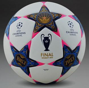 A+++ Champions League final wembley 2013 soccer ball league football Anti-slip granules football ball PU size 5 balls(China (Mainland))