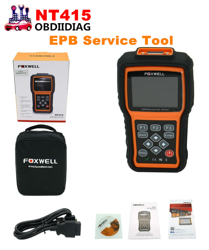 Original Foxwell NT415 EPB/ABS/SRS+CAN OBDII Diagnostic Scan Tool Turn off Check Engine Light Clears Codes Resets Monitors(China (Mainland))