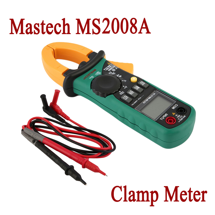 Mini Digital Clamp Multimeter MASTECH MS2008A DC/AC Voltage Current Resistance multifunction Tester LCD Display FREE SHIPPING <br><br>Aliexpress