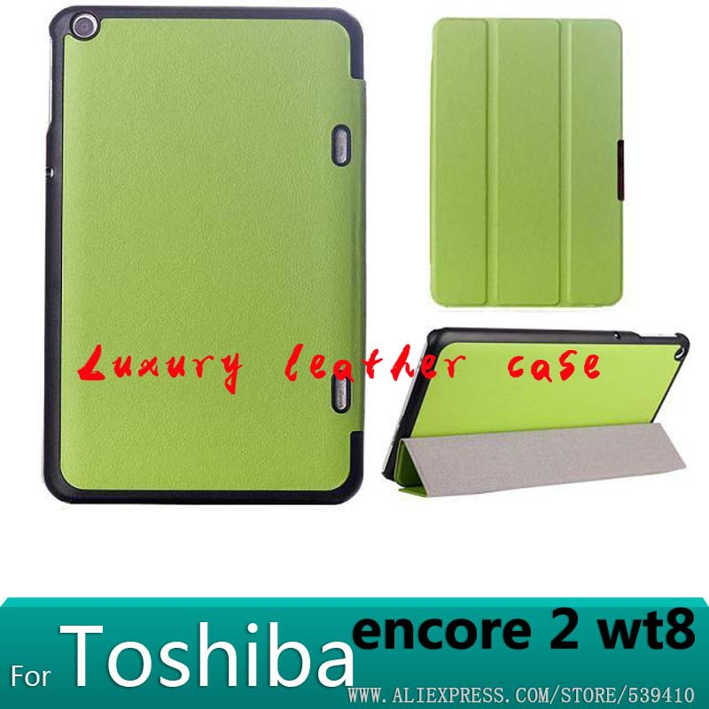 """For Toshiba Encore2 WT8 case luxury 3 Fold Magnet smart case for Toshiba Encore 2 WT8 8"""" Tablet cover case +screen protector(China (Mainland))"""