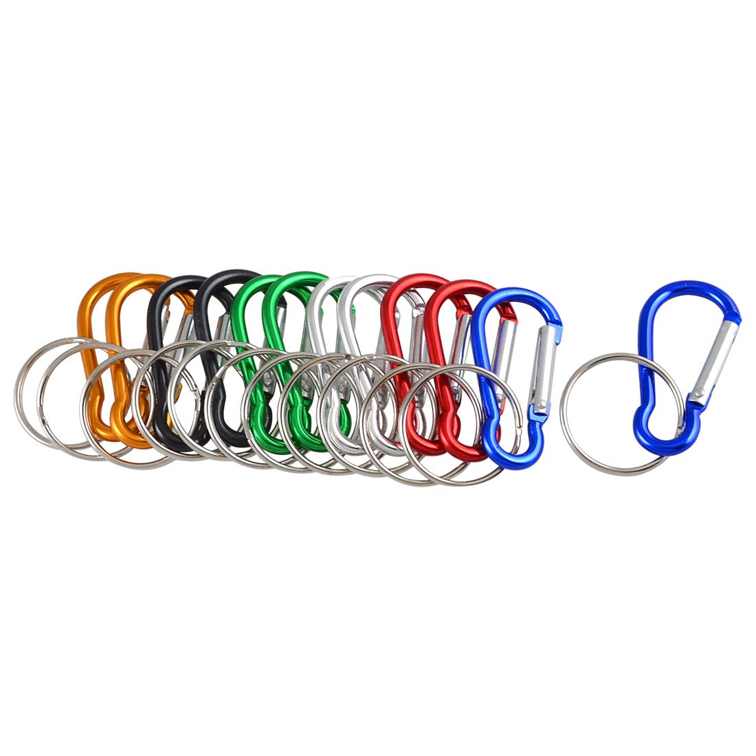 EDFY Assorted Color Aluminum Carabiner Key Ring Keychain Holder 12 Pcs<br><br>Aliexpress