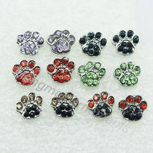 crystal rhinestone cat dog paw print post  stud fashion earring animal jewelry earrings free shipping(China (Mainland))