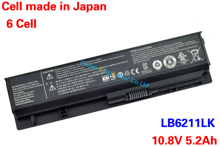 5200mAh Korea Cell Genuine Laptop Battery LB6211LK LG Xnote P430 P530 LB3211LK EAC61679004 10.8V 56WH