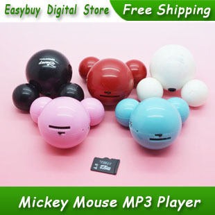 10pcs/lot New Style High Quality Mini Mickey Mouse Card Reader MP3 Music Player Gift MP3 Players 5 Colors<br><br>Aliexpress