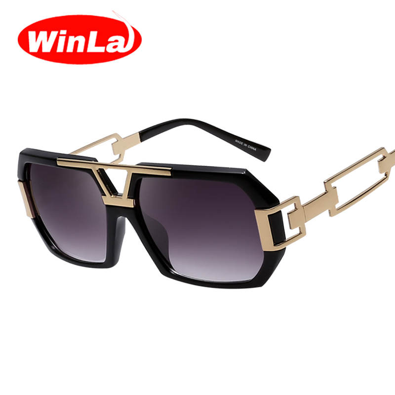 Winla Fashion Unique Sunglasses Male Hollow Vintage Sun ...