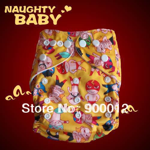 Wholesales-New Printed Colors Baby Nappies Baby Kids Leak-proof Nappy Urine Trousers Cloth Diapers 50 diapers+ 100 inserts