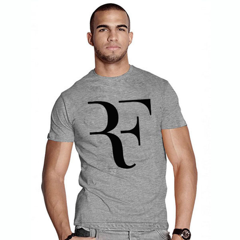 Fashion New rf t-shirt Roger Federer Tennis t shirt Men tshirt Top Quality Cotton Clothing Free Shipping(China (Mainland))