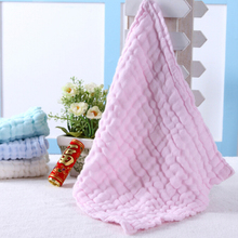 6 Layers Baby Face Towel Handkerchief Gauze Cotton Square Bibs Newborn Children Feeding Burp Cloth Toddler Kids Bath Towel