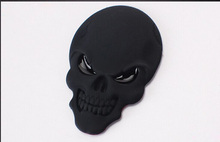 1pcs 3D Skull zinc alloy Metal Car Motorcycle Sticker  Skull Emblem Badge car styling stickers accessories(China (Mainland))