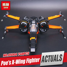Buy New LEPIN 05004 748Pcs Star First Order Poe's set X-toy wing Fighter 79102 Building Blocks Compatible with Wars Toy 79209 gift for $23.80 in AliExpress store