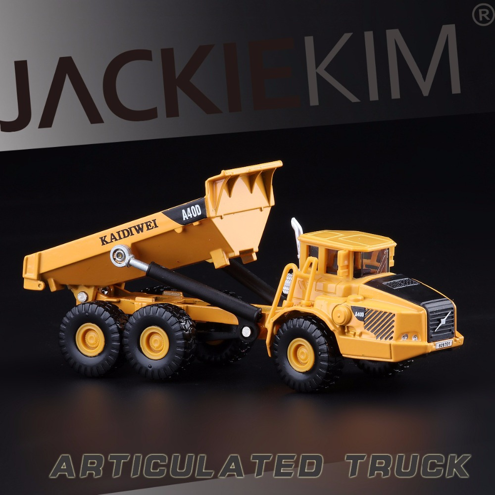 Free shipping KAIDIWEI 1:87 Volvo A40D type Dumper truck Alloy model toys(China (Mainland))