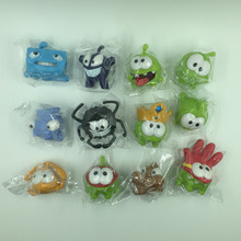 10pcs/1lot Game Cut The Rope 3-4cm Toys Action Figure Brinquedo Toy Kids Christmas Gift #1449 Free Shipping