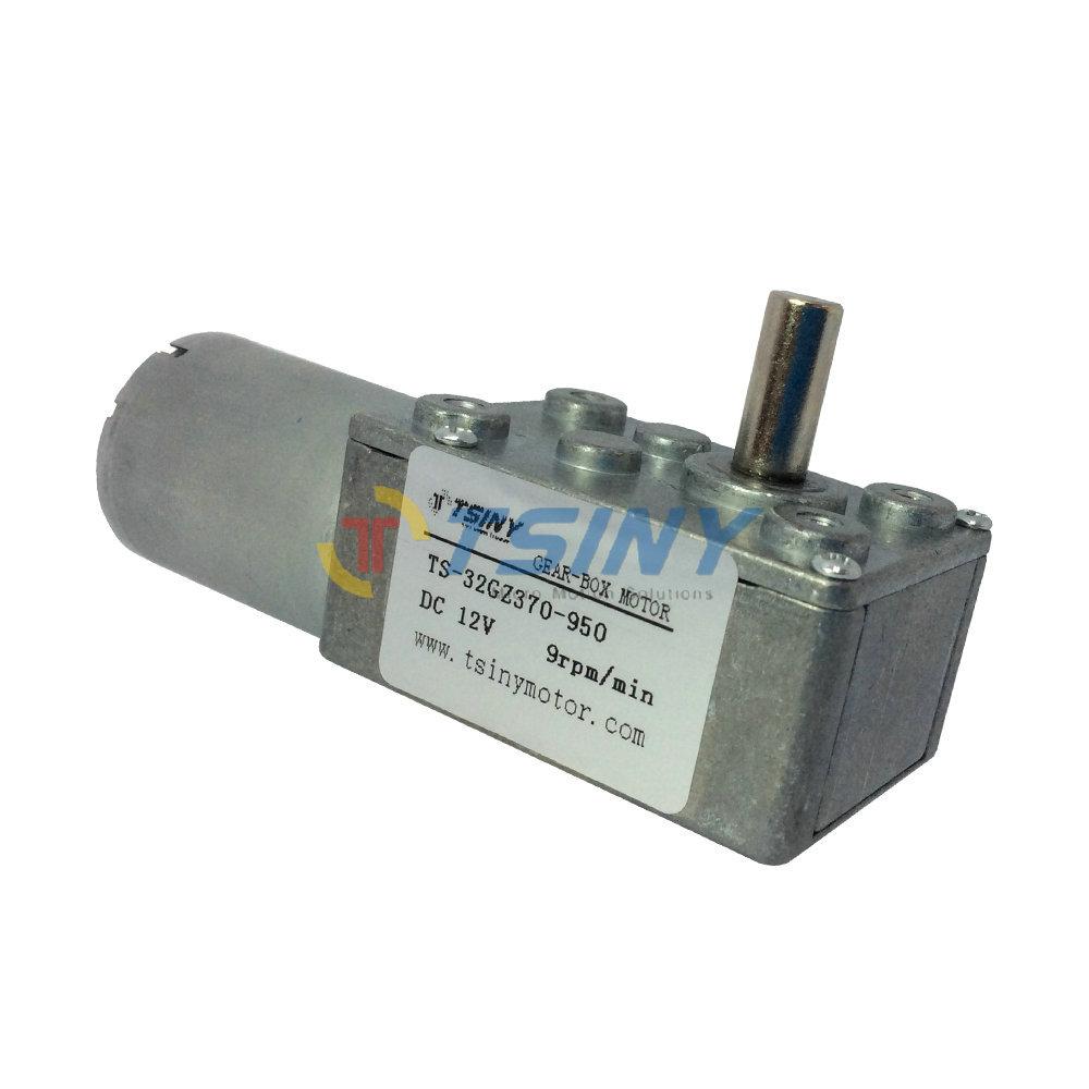 12V 9RPM DC Gear Motor Micro DC Gear Box Motor 370,Electric geared worm motor free shipping(China (Mainland))