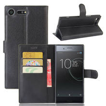 Buy Sony Xperia XZ Premium Lichee Pattern Stand PU Leather Case Flip Phone Cases Cover Card Slots Wallet Sony XZ Premium for $3.99 in AliExpress store