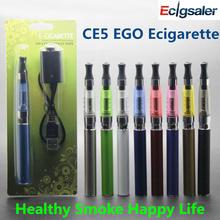 eGo e Cigarette CE5-EGO Kits BLISTER PACK 1.6ml Atomizer 650mah 900mah 1100/1300mah ego t battery CE5S CE4S Ecigsaler - store