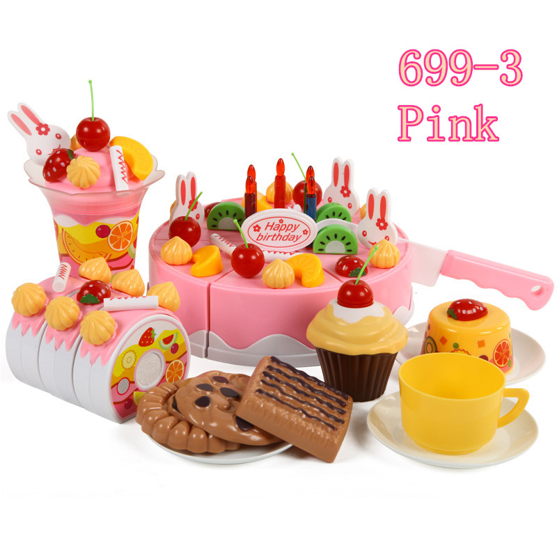 toys Kitchen 75pcs Cookware Set fruit birthday cake honestly creative ...